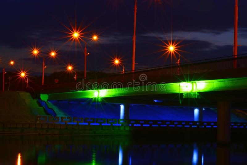 Light in the midle of the night stock photo