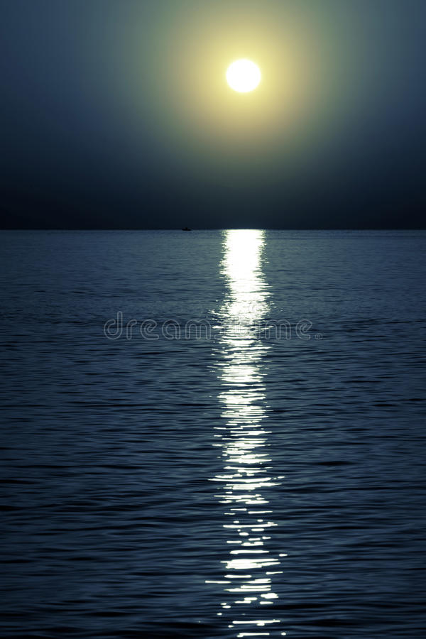 Light of the moon royalty free stock photo