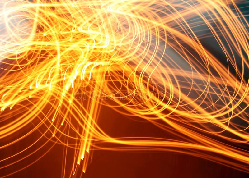Light motion abstract photo of fire, modern virtual space design image. Background stock image