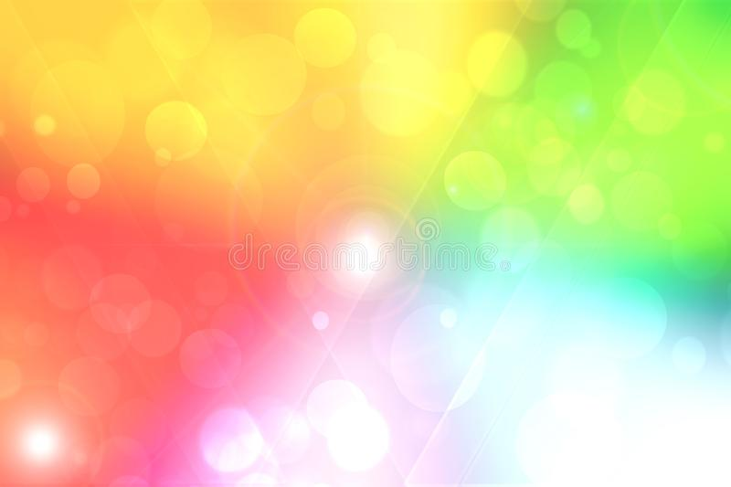 Light multicolor background. Abstract blurred fresh vivid spring summer light pastel gradient pink red bokeh texture with bright royalty free illustration