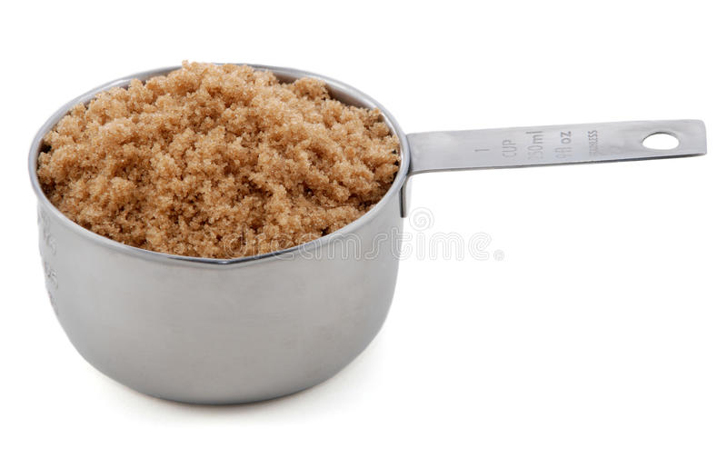 Download Light Muscovado Sugar Presented In A Cup Measure Stock Image    Image Of Food,