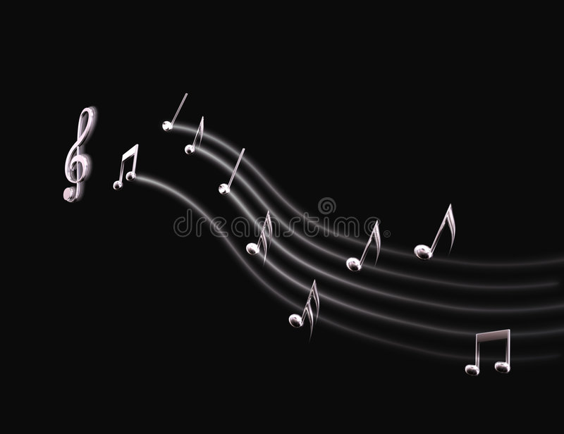 Download Light Musical Score stock illustration. Image of note - 5464899