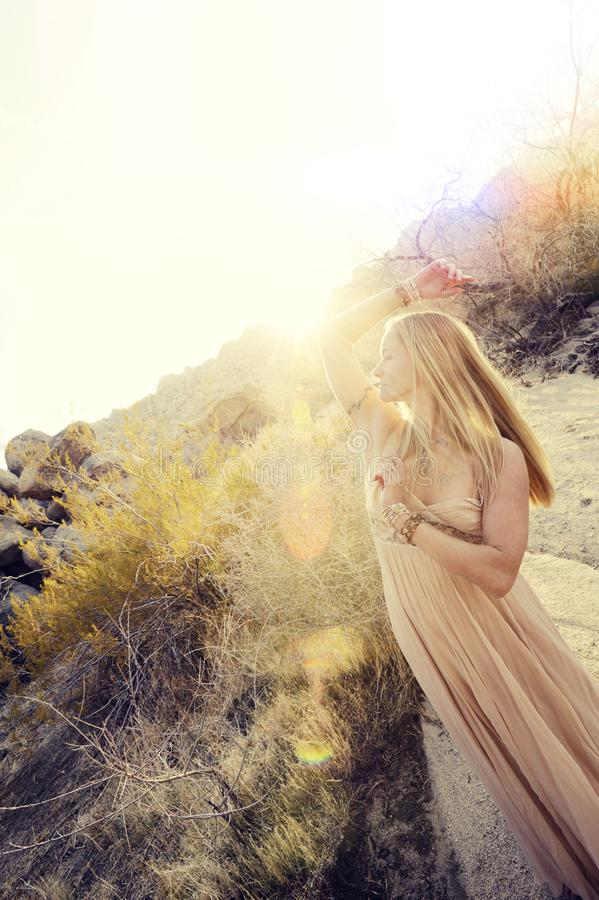 Light In Nature Goddess Woman royalty free stock photo