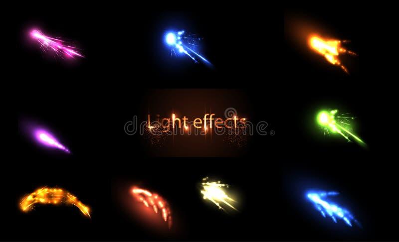 Light neon Effects Set vector illustration