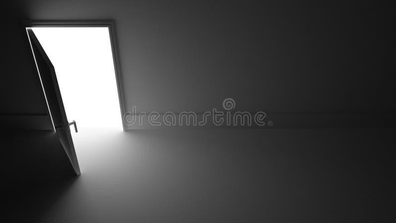 Light from Open door stock illustration Illustration of empty
