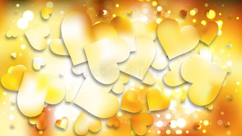 Light Orange Heart Wallpaper Background Vector Art 皇族释放例证