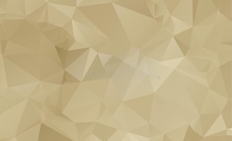 Light Orange vector Low poly crystal background. Polygon design stock illustration