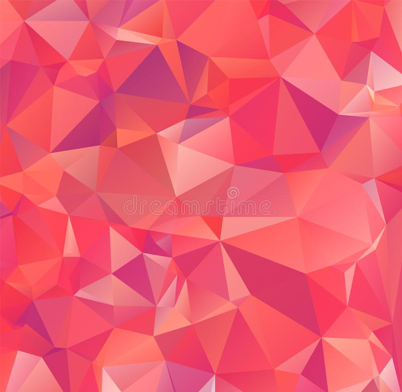 Light Orange vector modern geometric abstract background  , Multicolor, Rainbow vector triangle mosaic template. Eps.10 royalty free illustration