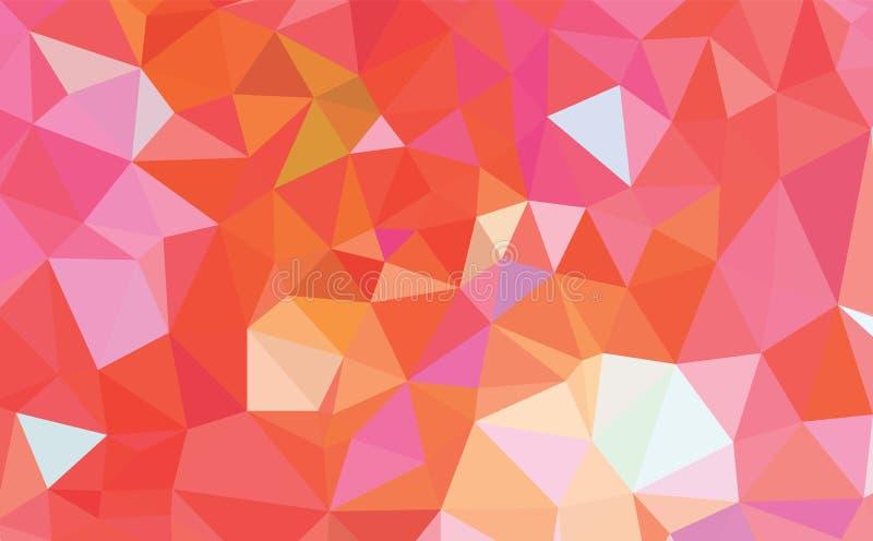 Light Orange vector modern geometric abstract background  , Multicolor, Rainbow vector triangle mosaic template vector illustration