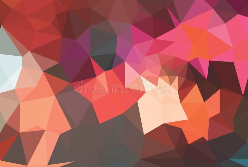 Light Orange vector modern geometric abstract background  , Multicolor, Rainbow vector triangle mosaic template. Light Orange vector modern geometric abstract royalty free illustration