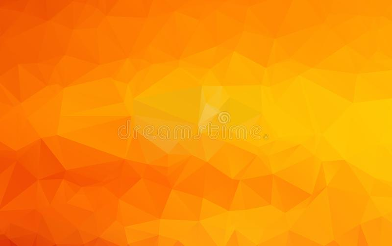 Light Orange vector polygonal illustration, which consist of triangles. Triangular design for your business. Creative geometric b vector illustration