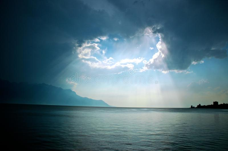 Download Light Over Lac Leman Stock Photography - Image: 15671332