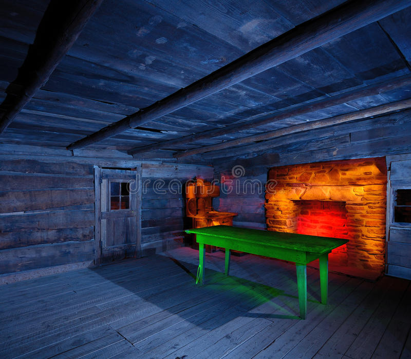 Light Painted Cabin Interior