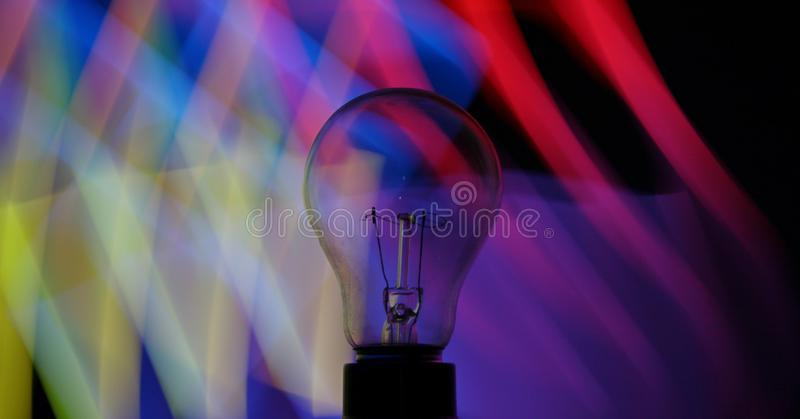 Light painting bulb stock images
