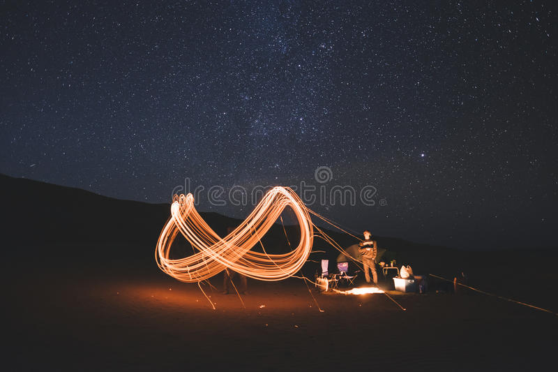 Light Painting At Campfire Free Public Domain Cc0 Image