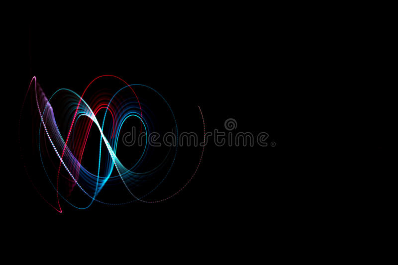 Light painting dark background royalty free stock images