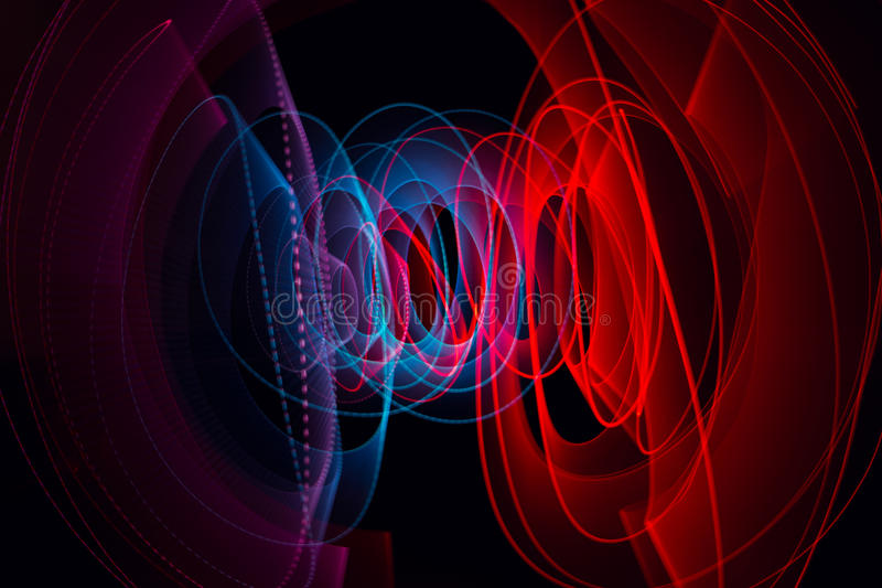 Light painting dark background royalty free stock photography