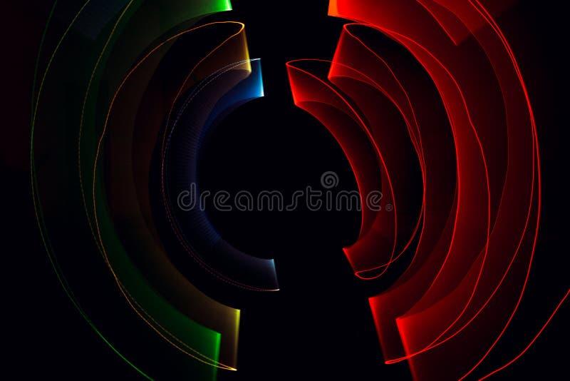Light painting dark background stock photo
