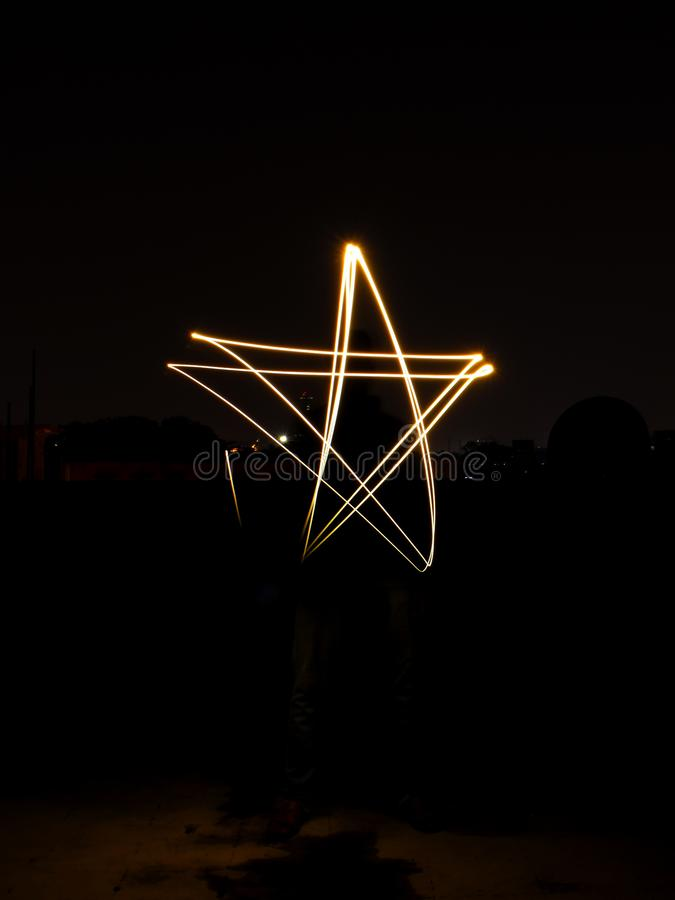 Star Light Painting stock photos