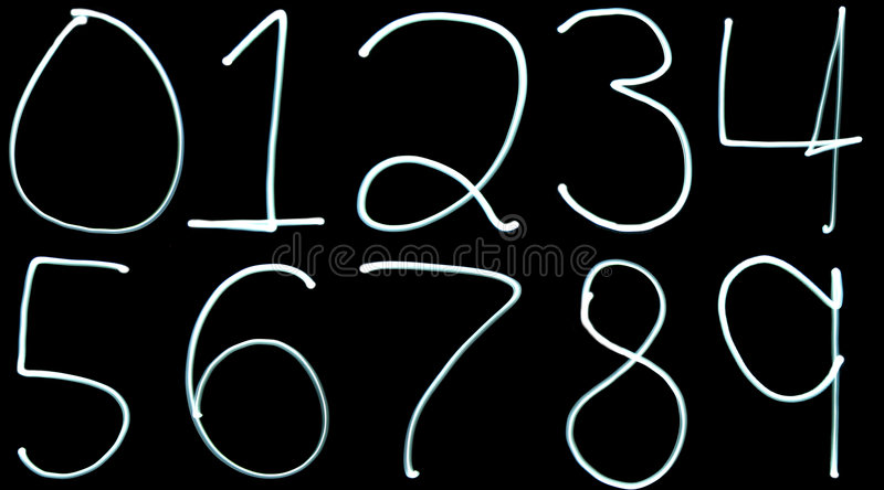 Download Light painting Numbers stock illustration. Illustration of math - 5583973