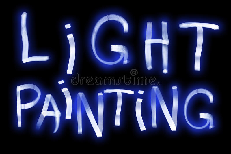 Download Light Painting stock illustration. Image of blue, elements - 38588178