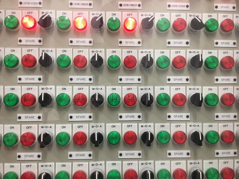 Light panel electrical close. royalty free stock photo