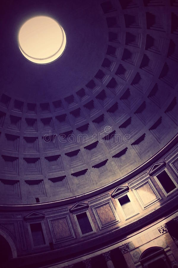 Light in Pantheon stock images