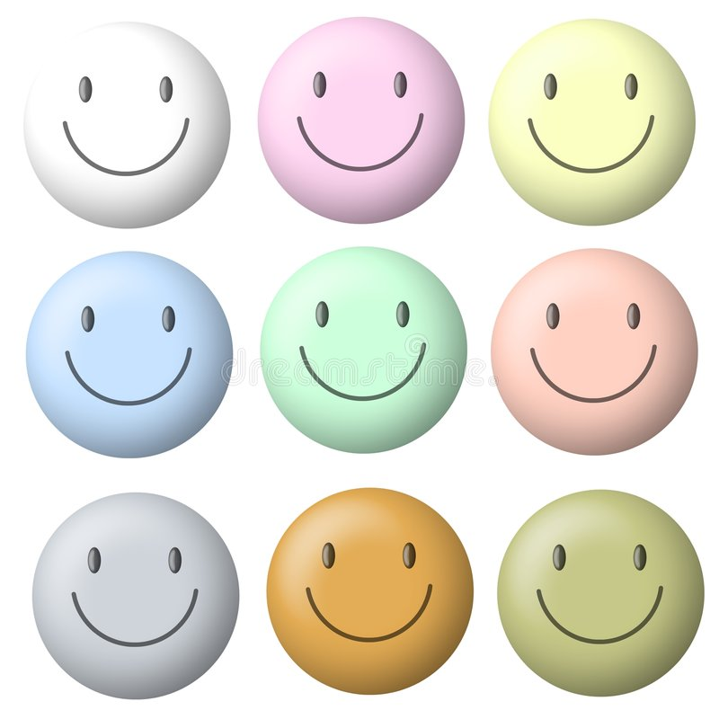 Light Pastel Smiley Faces vector illustration