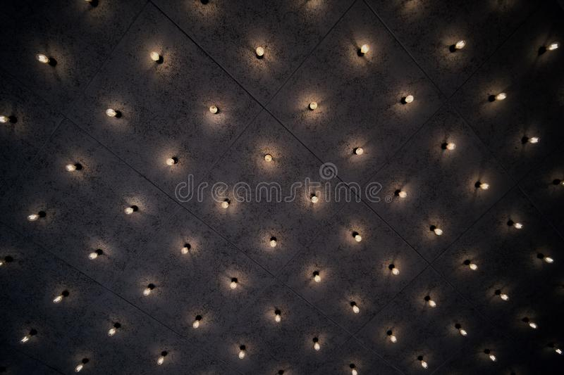 Light pattern background on the wall stock photo