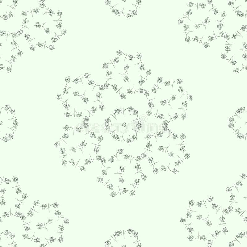 Light pattern with leaves ornaments stock images