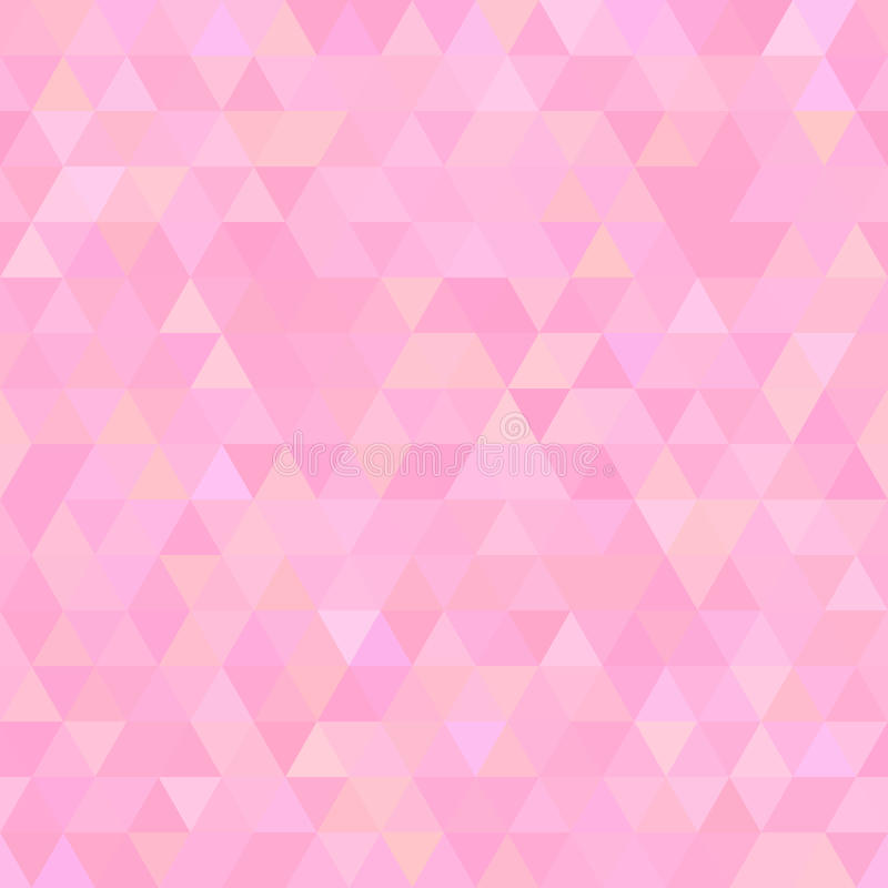 Light Pink Abstract Triangles Seamless Background Stock