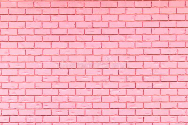 Light Pink brick wall for use as a background. royalty free stock photography