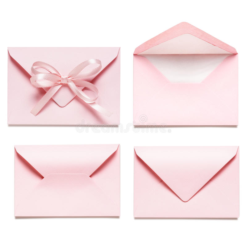 Light pink envelopes stock photography
