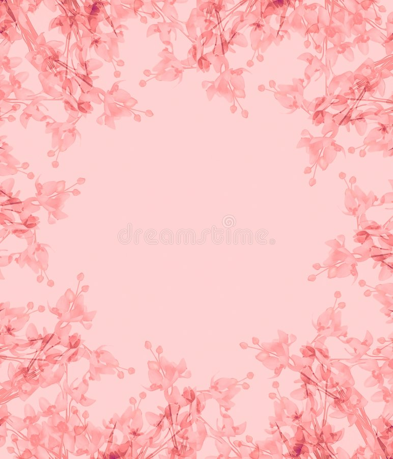 Light Pink Flowers Photo Frame royalty free illustration