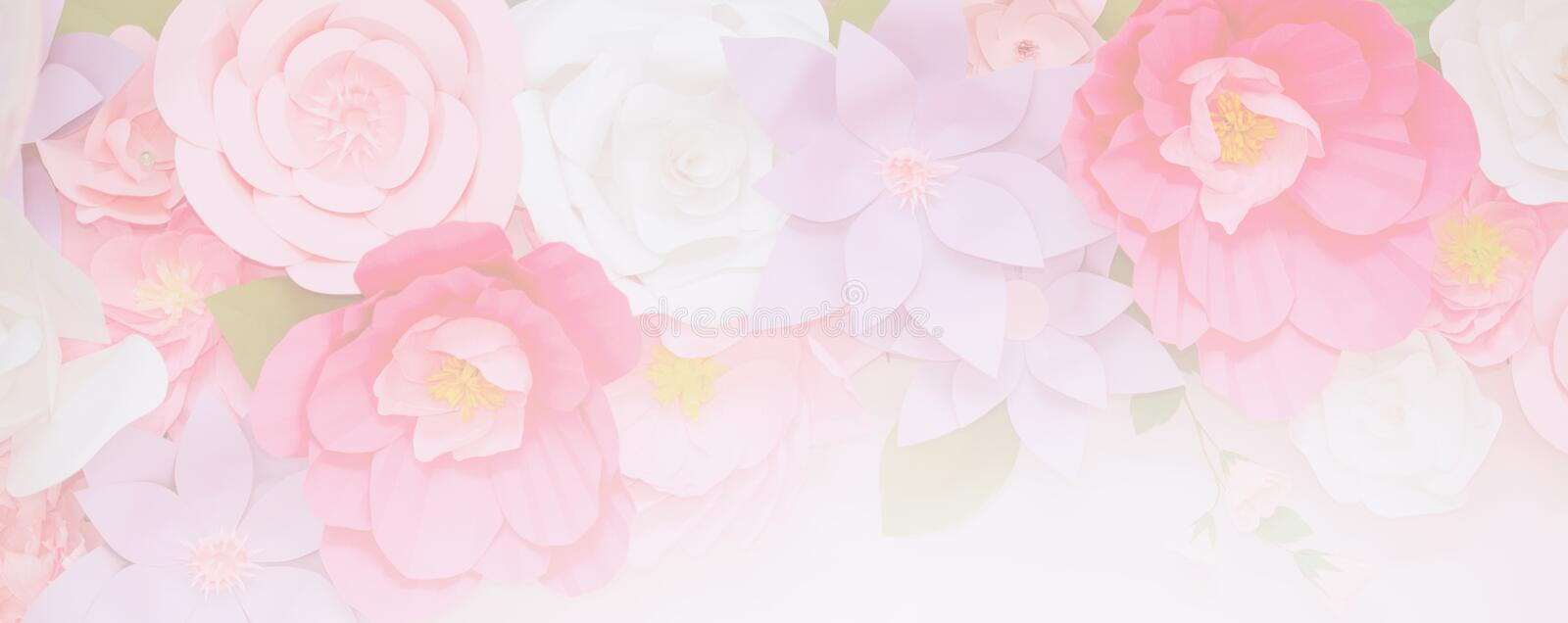 Light pink flowers in soft color. For landing page background royalty free stock images