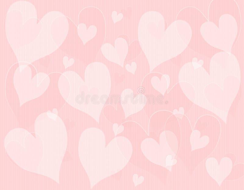 Light Pink Hearts Background Pattern royalty free illustration