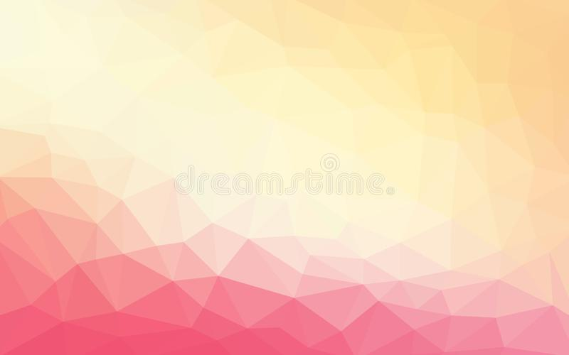 Light pink orange vector Low poly crystal background. Polygon vector illustration