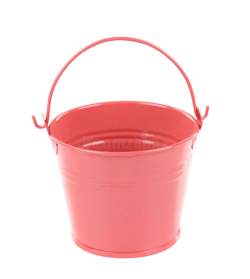 Light pink pail. Isolated on a white background stock photography