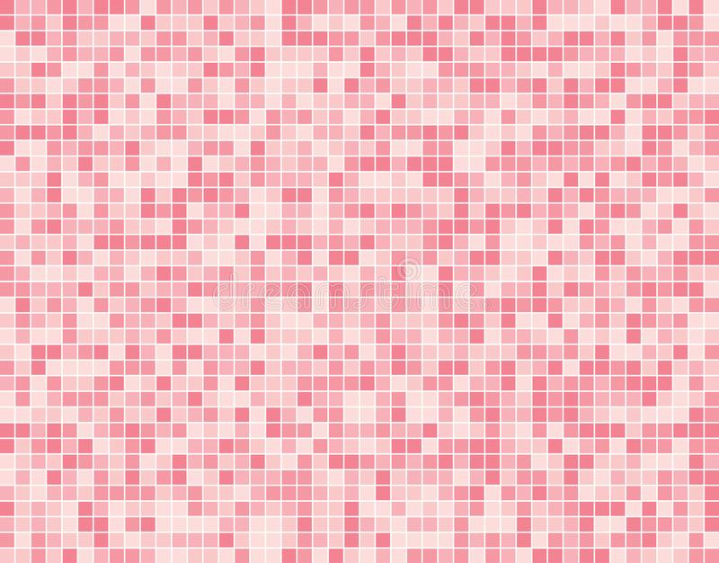 Light Pink Square Mosaic Tiles Background Banner. royalty free illustration