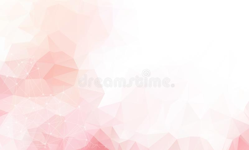 Light Pink vector background with dots and lines. Abstract illustration with colorful discs and triangles. Beautiful design for yo. Ur business advert royalty free illustration