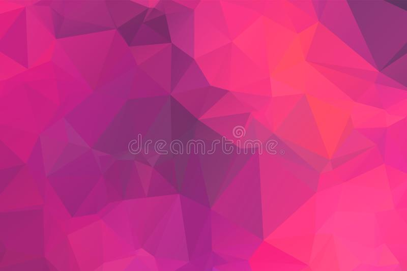Light Pink vector modern geometric abstract background  , Multicolor, Rainbow vector triangle mosaic template royalty free illustration