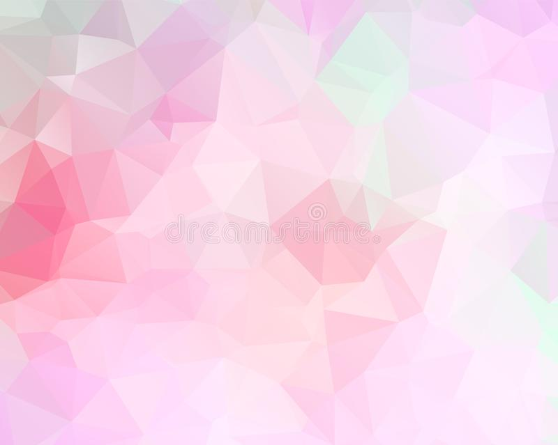 Light Pink vector modern geometric abstract background  , Multicolor, Rainbow vector triangle mosaic template vector illustration