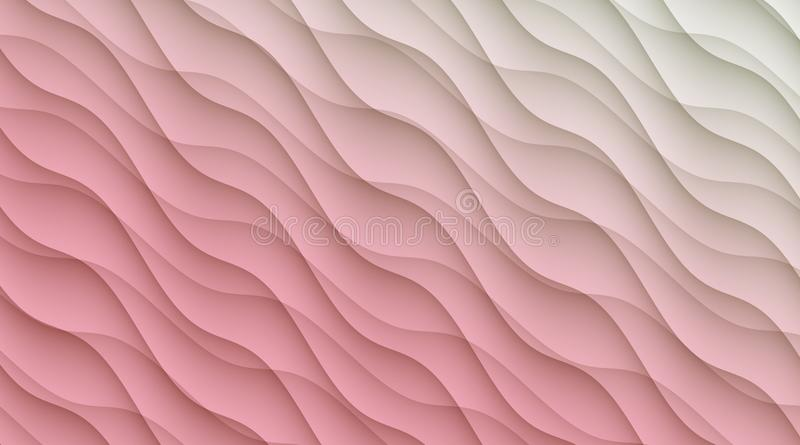 Light pink and white diagonal curves abstract wallpaper background illustration. vector illustration
