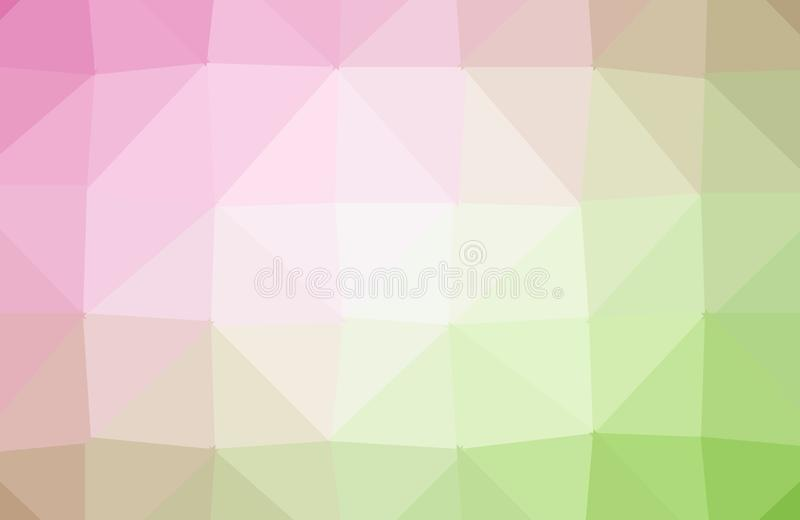 Light Pink, Yellow vector shining triangular backdrop. Triangular geometric sample with gradient. Polygonal design for your web royalty free illustration