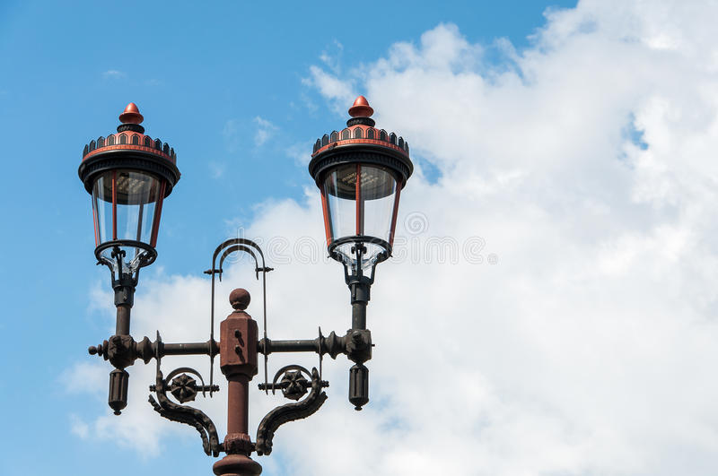 Light pole in Bucharest royalty free stock photography