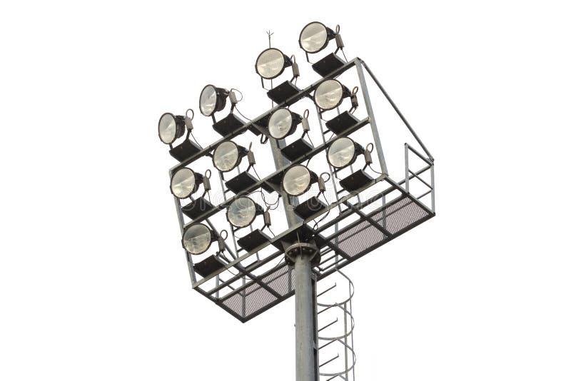 Light pole isolated on white royalty free stock image