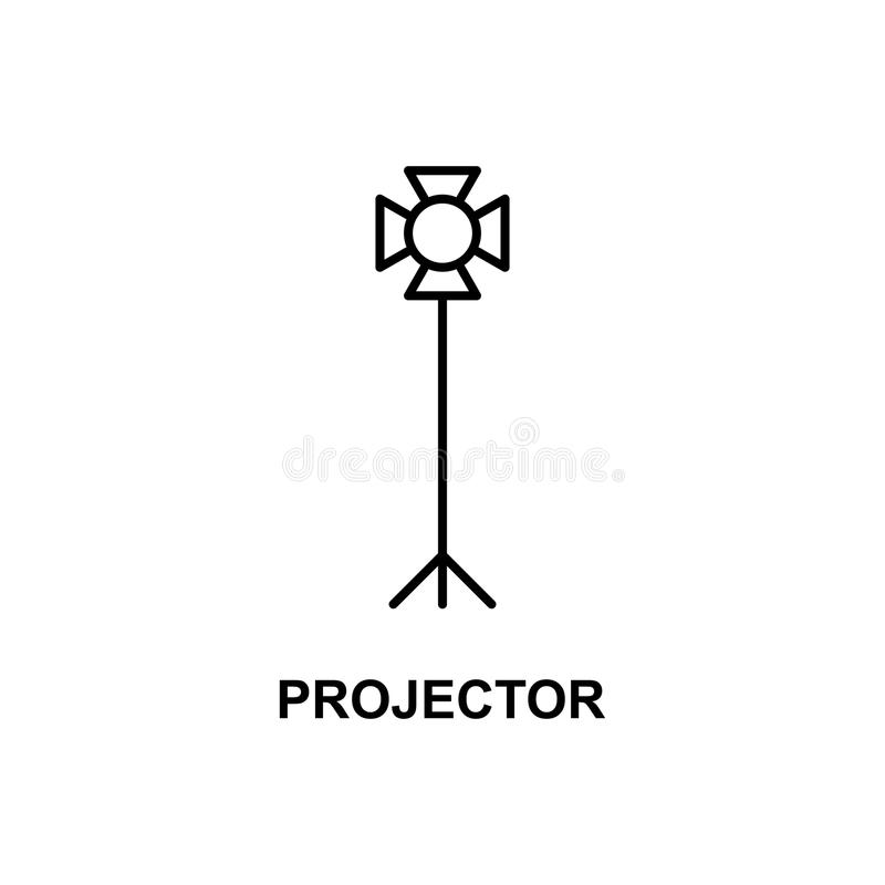 Light projector icon. Element of cinema for mobile concept and web apps. Thin line light projector icon can be used for web and mo. Bile. Premium icon on white vector illustration