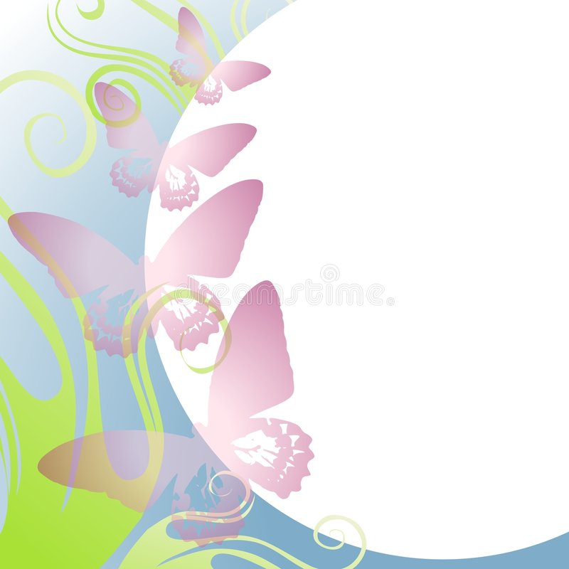 Light Purple Butterfly Border stock illustration