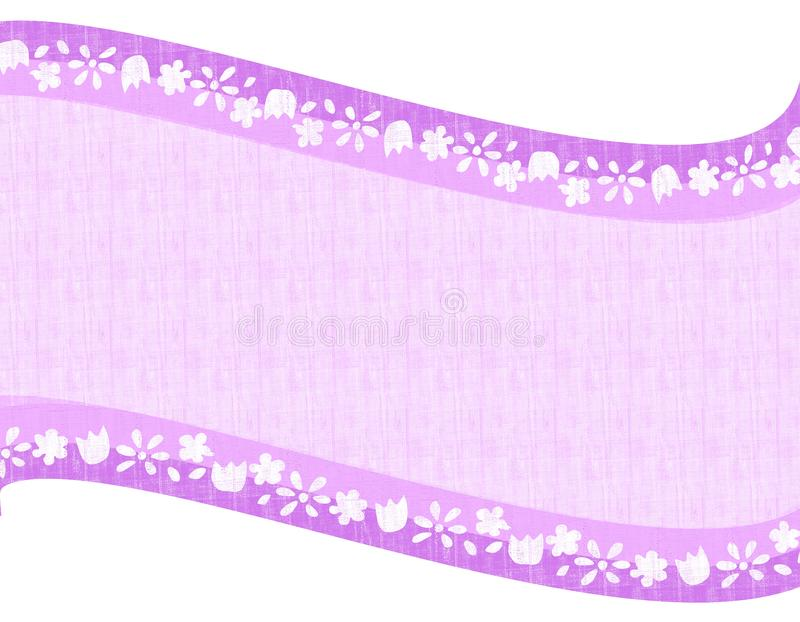Light Purple Flower Swoosh Background stock image