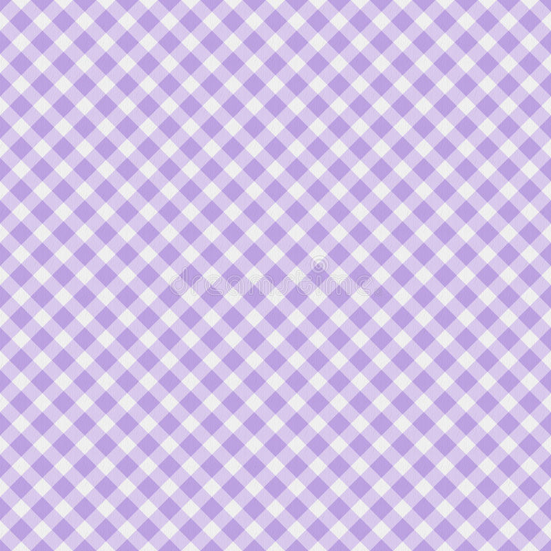 Light purple Gingham Fabric Background stock illustration